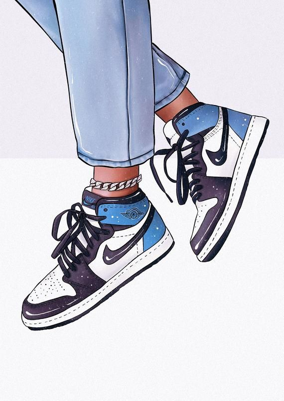 Fashion Sneakers Print, Trainers Print, Fashion Illustration, Sneakers Print, Trainers Art, Designer