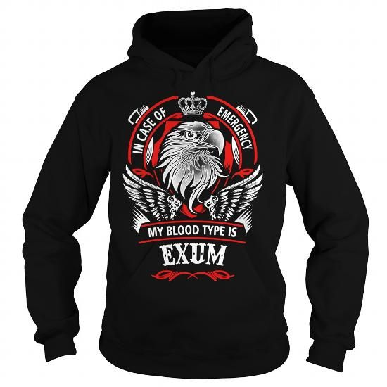 I Love EXUM, EXUMYear, EXUMBirthday, EXUMHoodie, EXUMName, EXUMHoodies Shirts & Tees