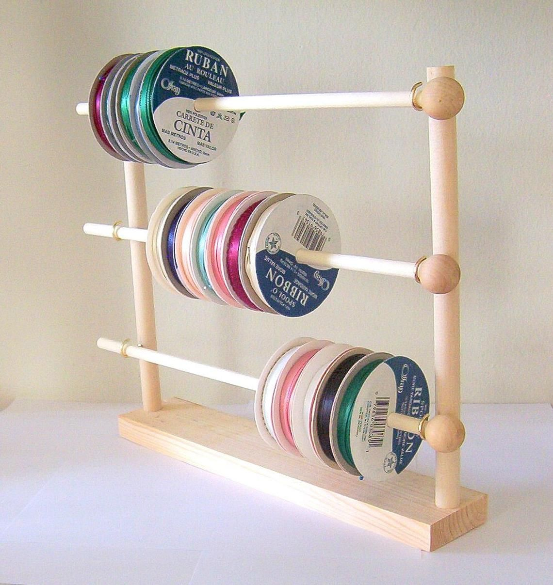 Spool Ribbon Holder Storage Rack Wire Organizer Ribbon Holders