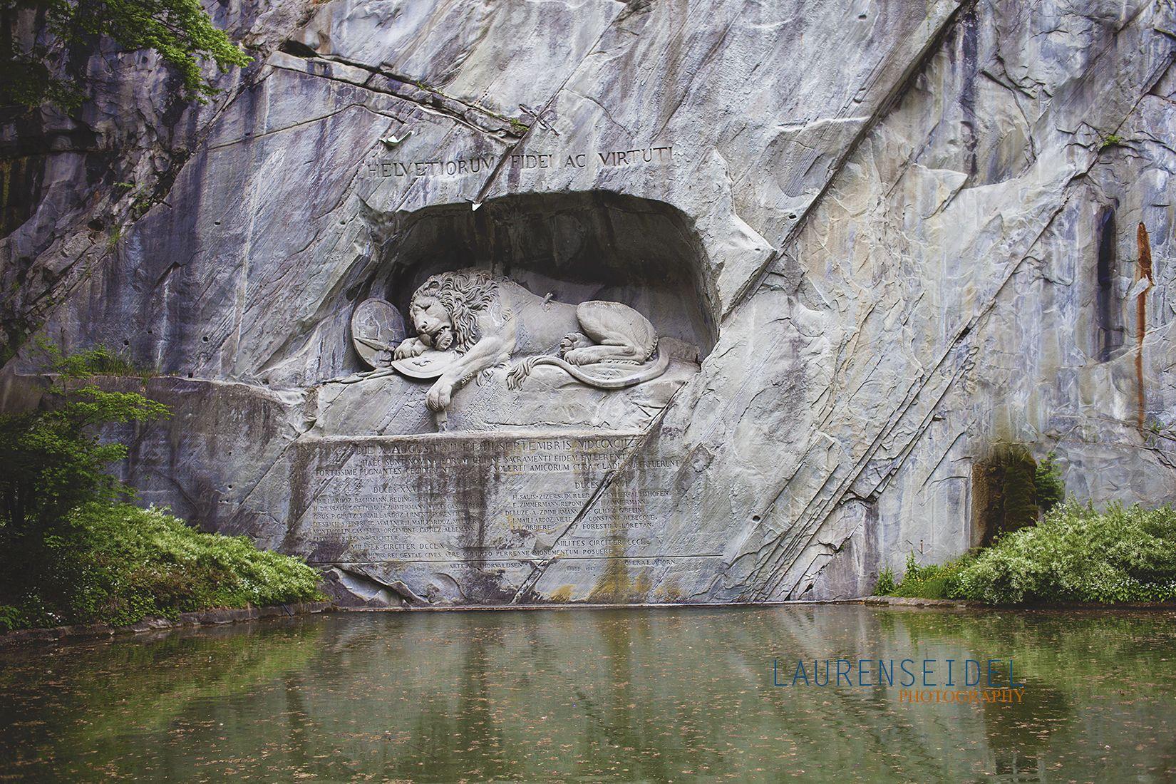Lucerne Switzerland. Lion monument.