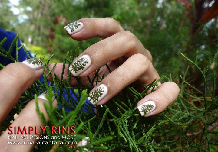 Pine Trees Nail Art Design Nail Art In 2018 Pinterest Nails