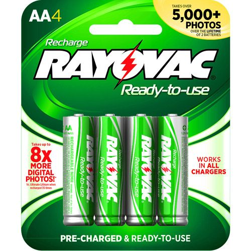 Rayovac Rechargeable Aa Batteries 4 Pack Nimh Double A Batteries Walmart Com Cool Things To Buy Nimh Recharge