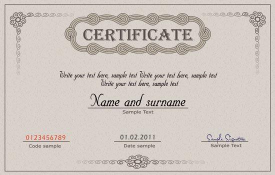 Photoshop Coupon Template - Diploma certificate and coupon template