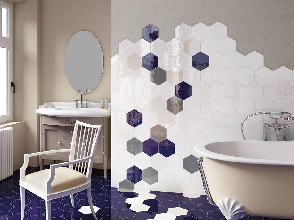 Idee di bagno in blu e bianco casa