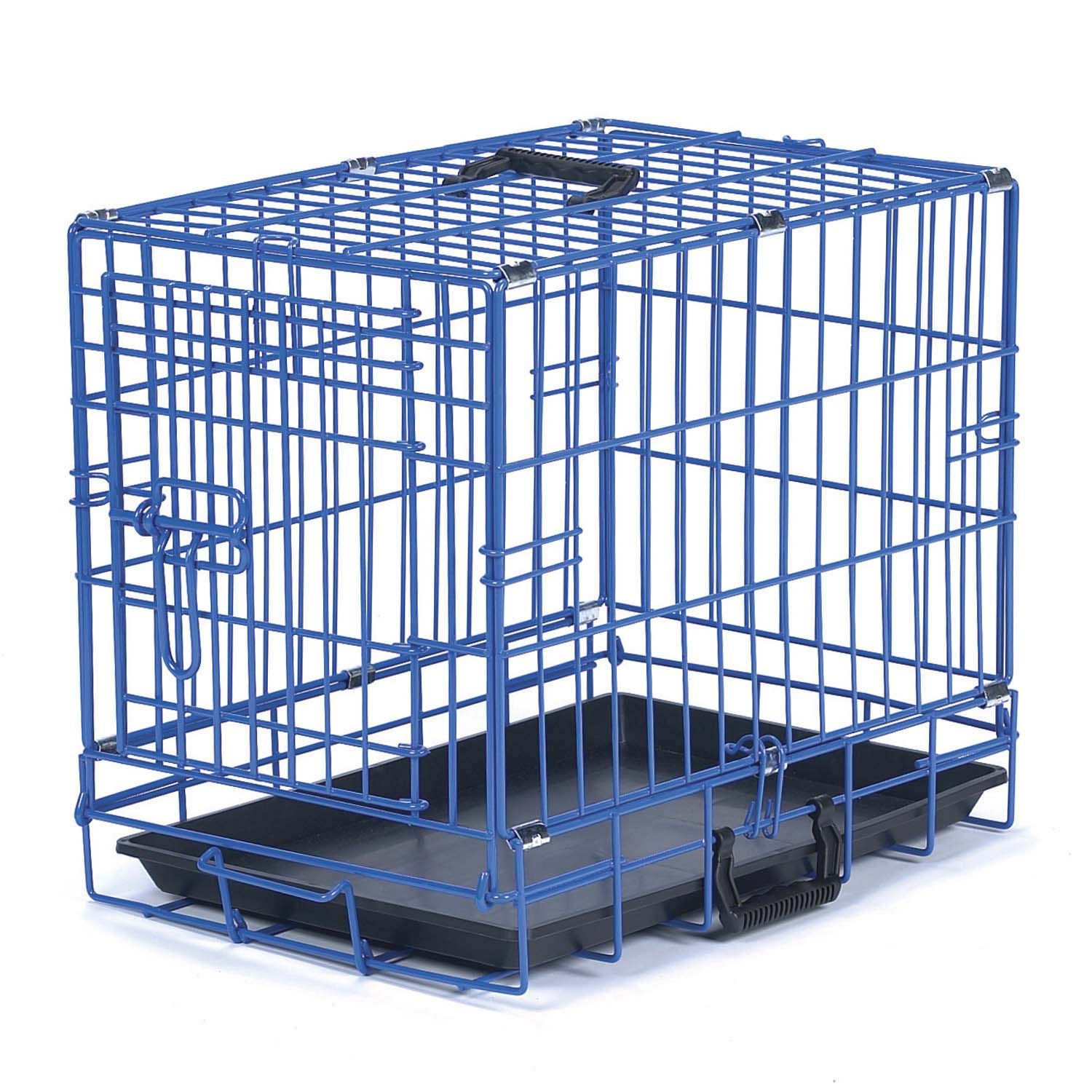 Be Good Appeal Color Blue Dog Crate 30 L X 19 W X 23 H Wire