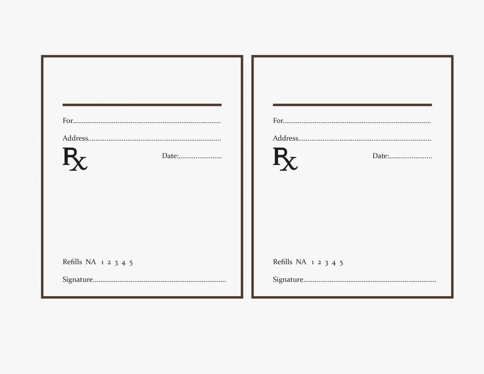 Fake Prescription Label Template Best Of Why You Must Experience Printable Label Templates Prescription Pad Printable Label Templates