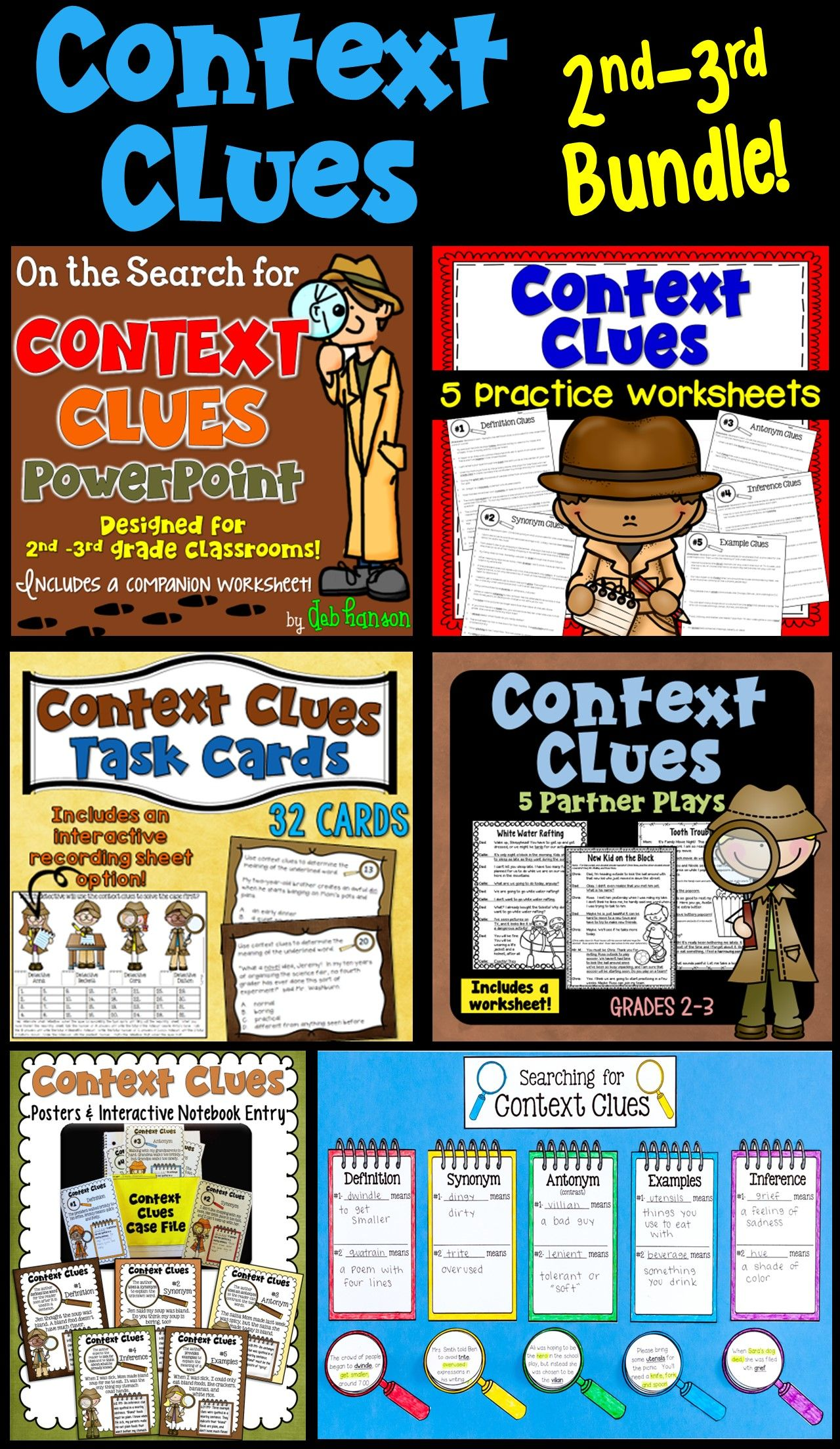 Context Clues Bundle Of Activities For 2nd And 3rd Grade
