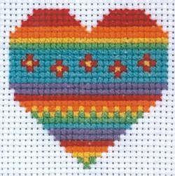 Heart, Starter Cross Stitch Kit