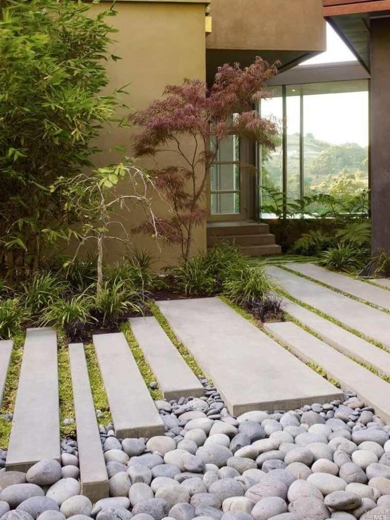 Decoration Jardin Avec Galets Ou Gravier Avantages Comparatif Et Astuces D Amenagement Exterieur Avec Images Jardin Japonais Jardins Amenagement Jardin