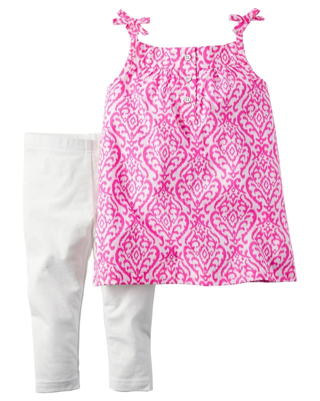 Carter/'s NWT 6M Toddler Girl Top Tunic legging Set $28