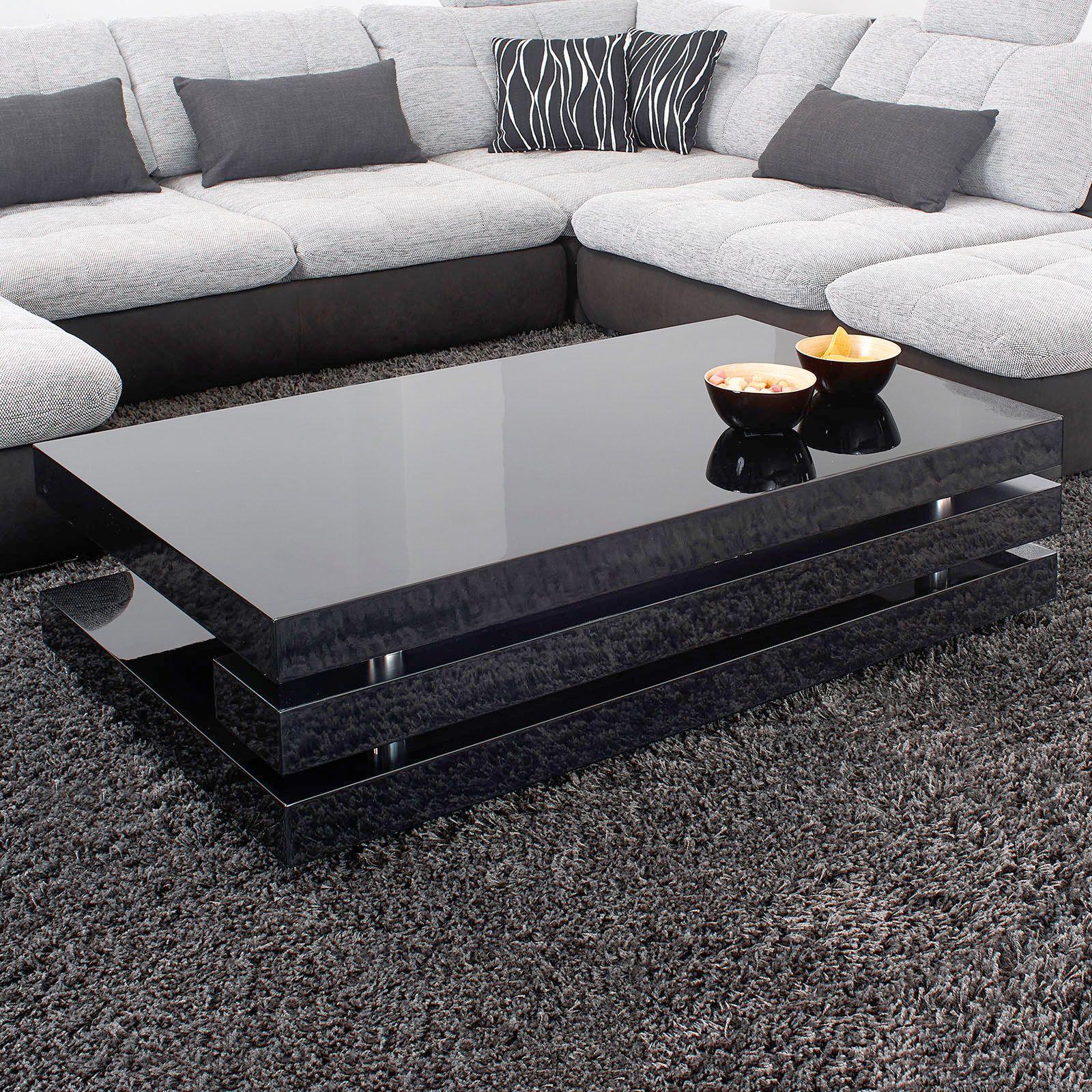 Gut Couchtisch Hochglanz Schwarz Lack Ancona Modern Design, Besticht Durch Sein  Zeitgemäßes Design Und Seiner Exklusivität