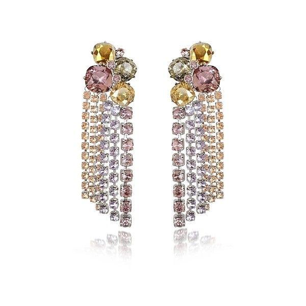 Dodo Bar Or Crystal clip-on earrings wqZWoI
