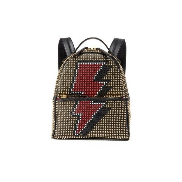 les petits joueurs Mini Mick Flash Backpack ($1,435) ❤ liked on Polyvore featuring bags, backpacks, black, leather zipper backpack, day pack backpack, real leather backpack, leather rucksack and genuine leather backpack