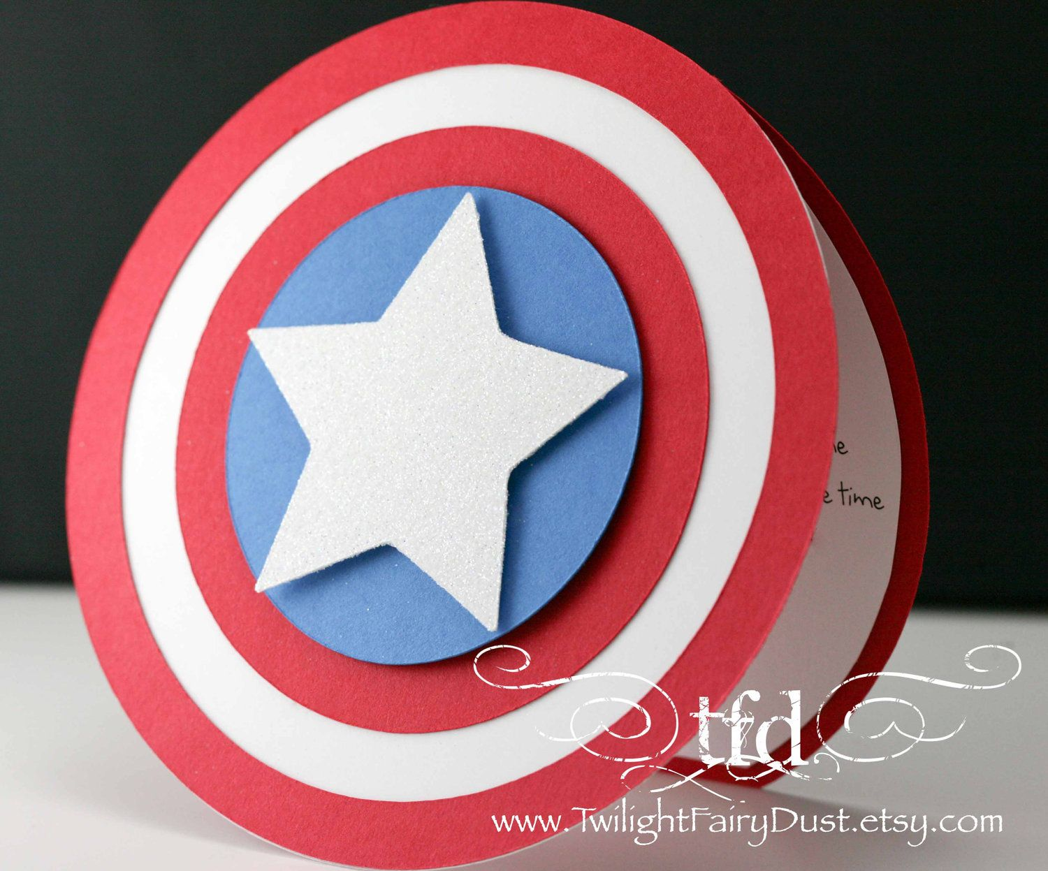 Captain America Invitations or perhaps thank you cards Ideas