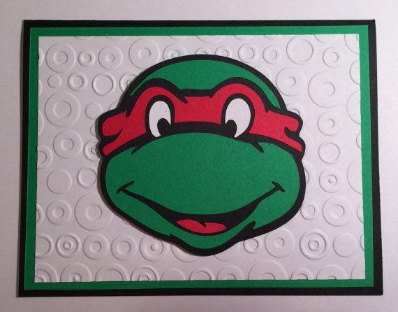 Handmade Teenage Mutant Ninja Turtle Birthday Card Ninja Turtle Tmnt Ninja Turtle Birthday Teenage Mutant Ninja Turtle Birthday Birthday Cards