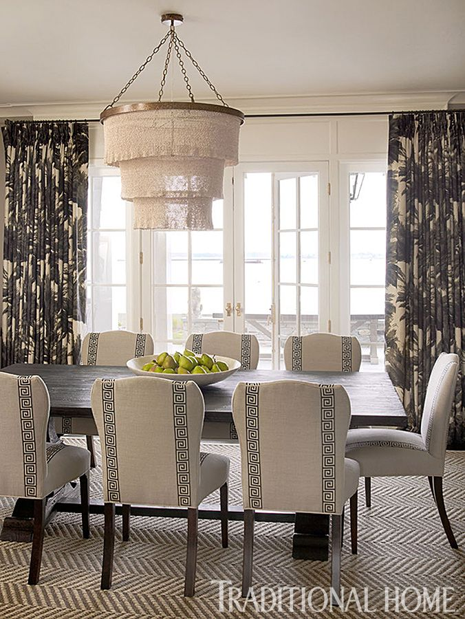 traditional home dining rooms. Dining Chairs And Rug Stylish Home On Long Island Sound  Traditional