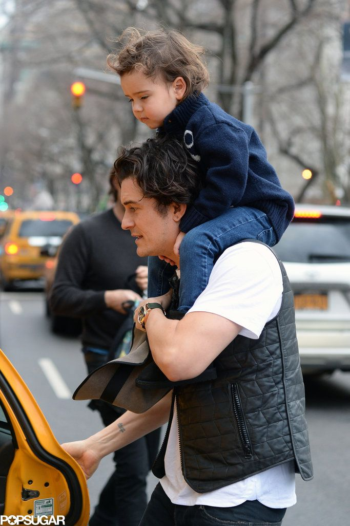 Orlando Bloom Gives Flynn A Piggyback Ride On Their New