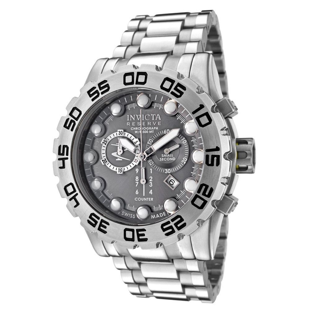 Invicta 0811 Men's Reserve Leviathan Stainless Steel Gray Dial Chronograph Watch