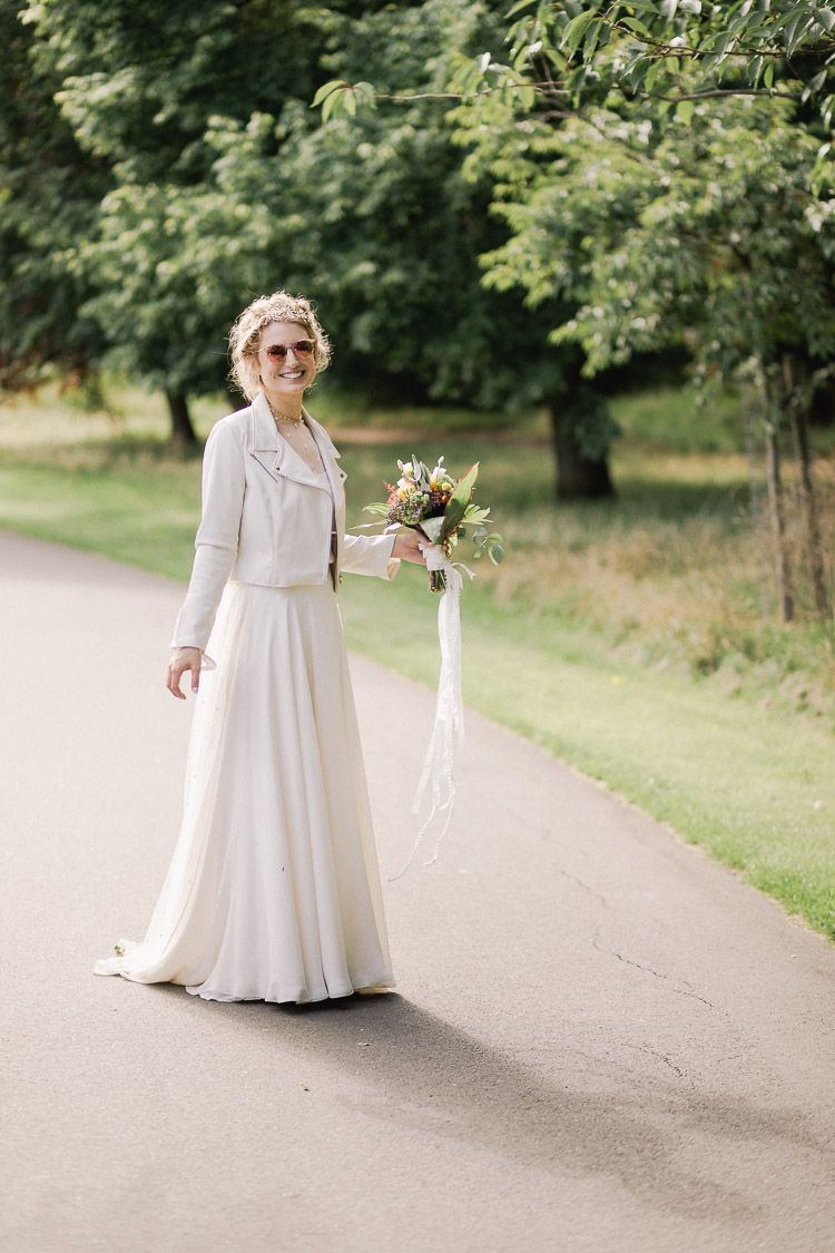 Clissold House West Reservoir Centre Wedding In London City With A Colourful Indie Theme White Leather Wedding Dress Indie Wedding Dress Red Wedding Dresses [ 1125 x 750 Pixel ]