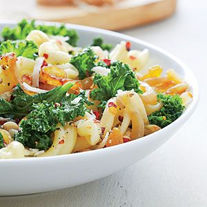 Pasta with Wilted Kale and Caramelized Onions | MyRecipes.com