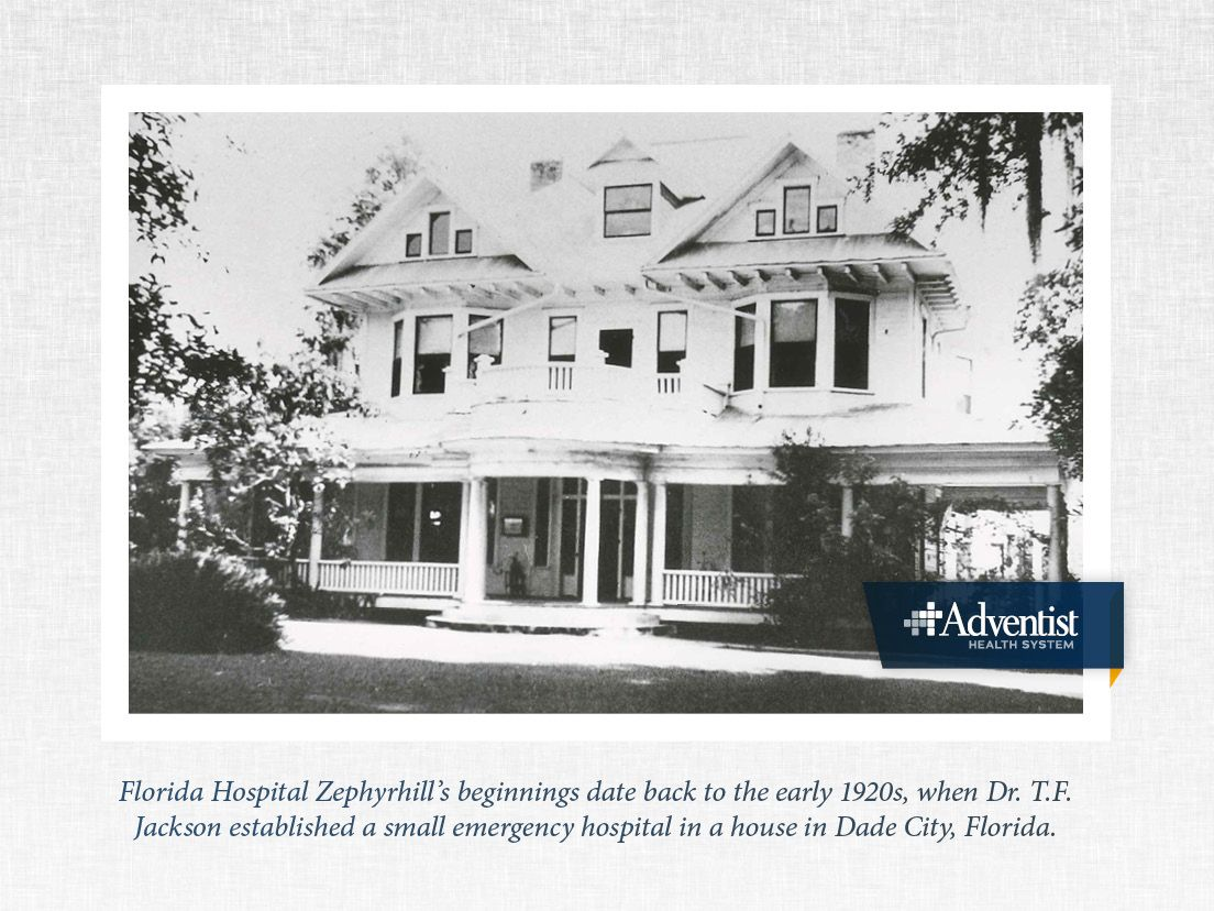 Florida hospital zephyrhills beginnings date back to the