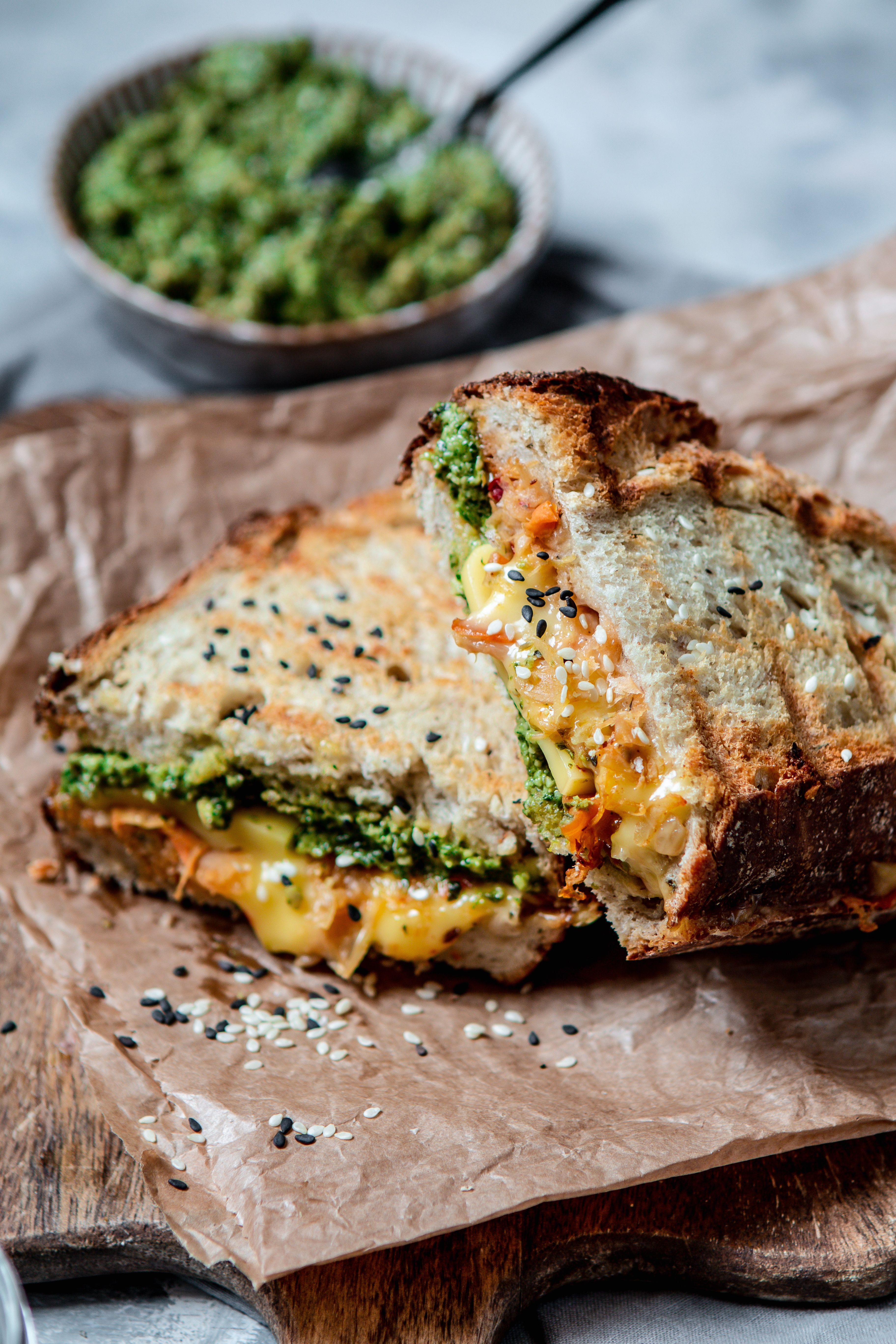 The Ultimate Vegan Grilled Cheese Vegan Grilling Food Pesto Grilled Cheeses