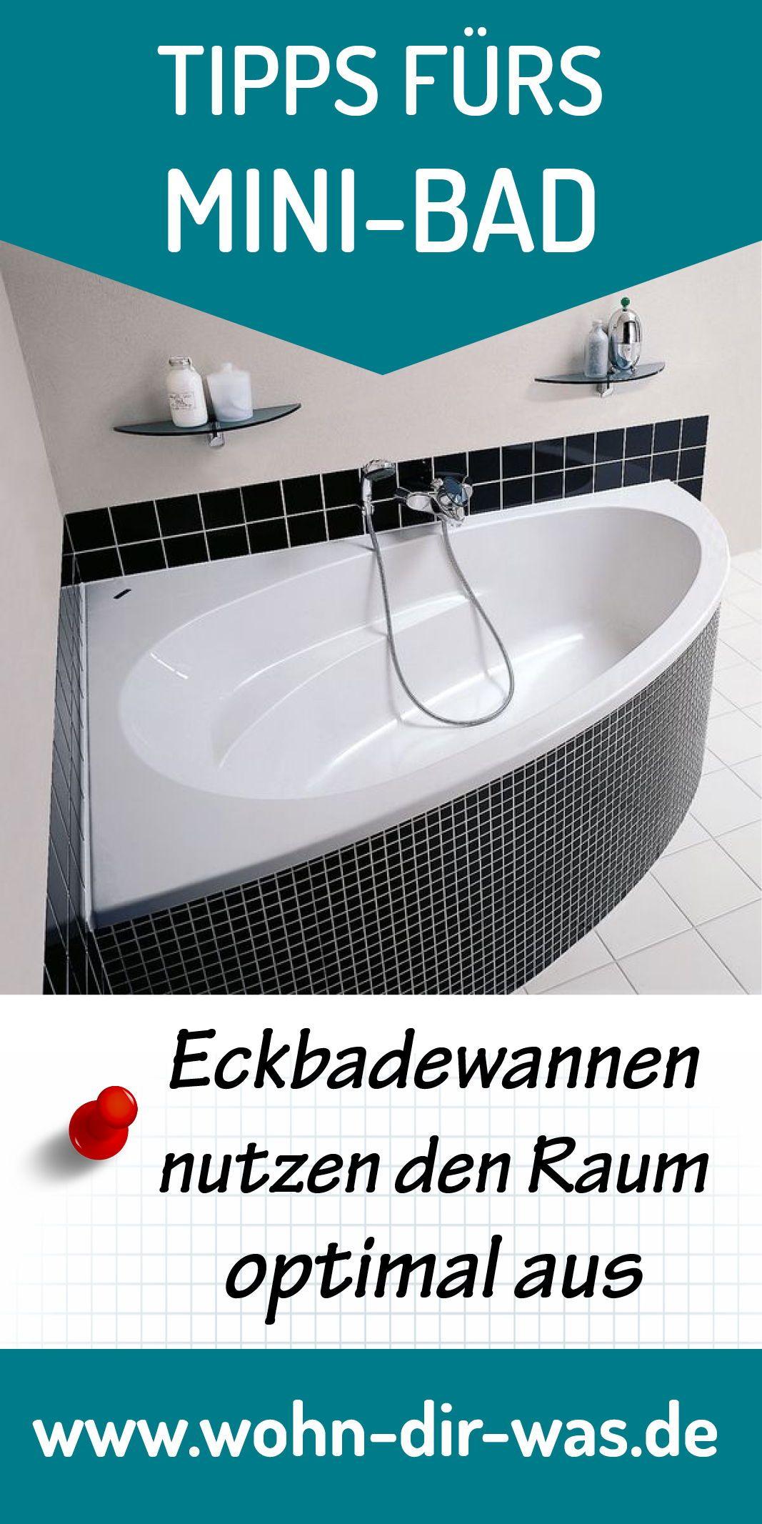 Bei Kleinen Badern Sind Eckbadewannen Oft Sehr Praktisch Weil Sie Den Raum Optimal Ausnutzen Mehr Tipps Fur Dein Neues Bad Un Mini Bad Neues Bad Eckbadewanne