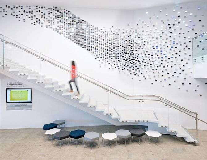 This Mural In An Office In London, England, Designed By Woods Bagot. | ART  | Pinterest | Wall Murals, Woods And Spaces