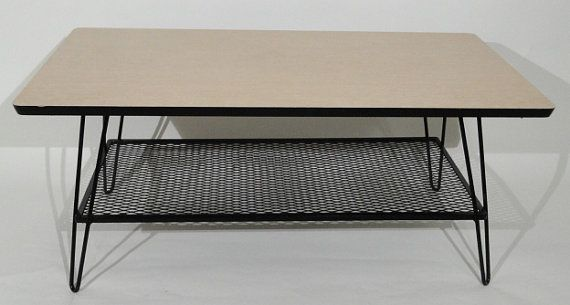 Metal Wire Mesh Hairpin Leg Coffee Table