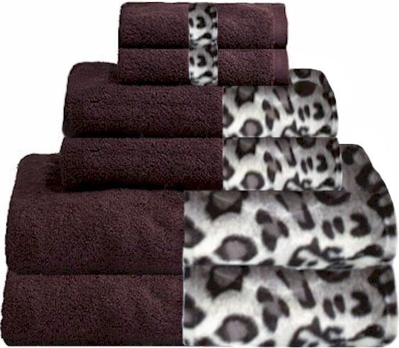 Snow Leopard Plum Bordering Africa Bath Towels 11 00 27 00 Sale 10 00 24 00 Animal Print Bathroom Towel Snow Leopard