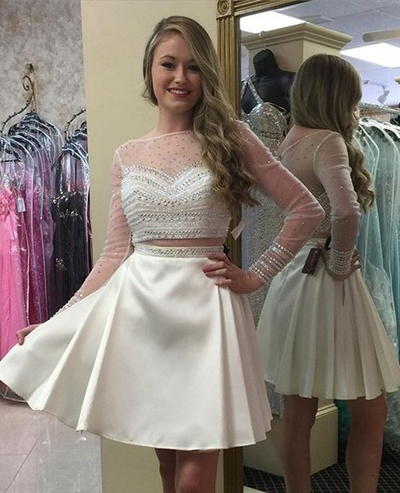 Prom Dress,Homecoming Dresses, 2 Piece Prom Dress,Long