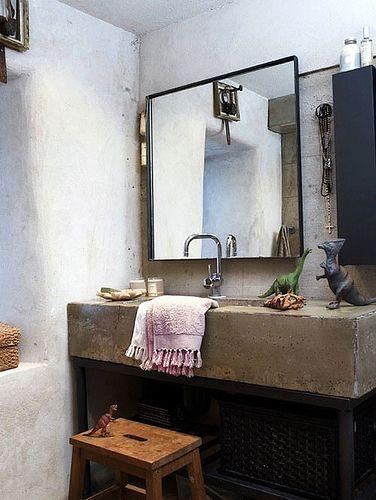 10 Beautiful Bathroom Sinks Made Of Stone Concrete Bathroom