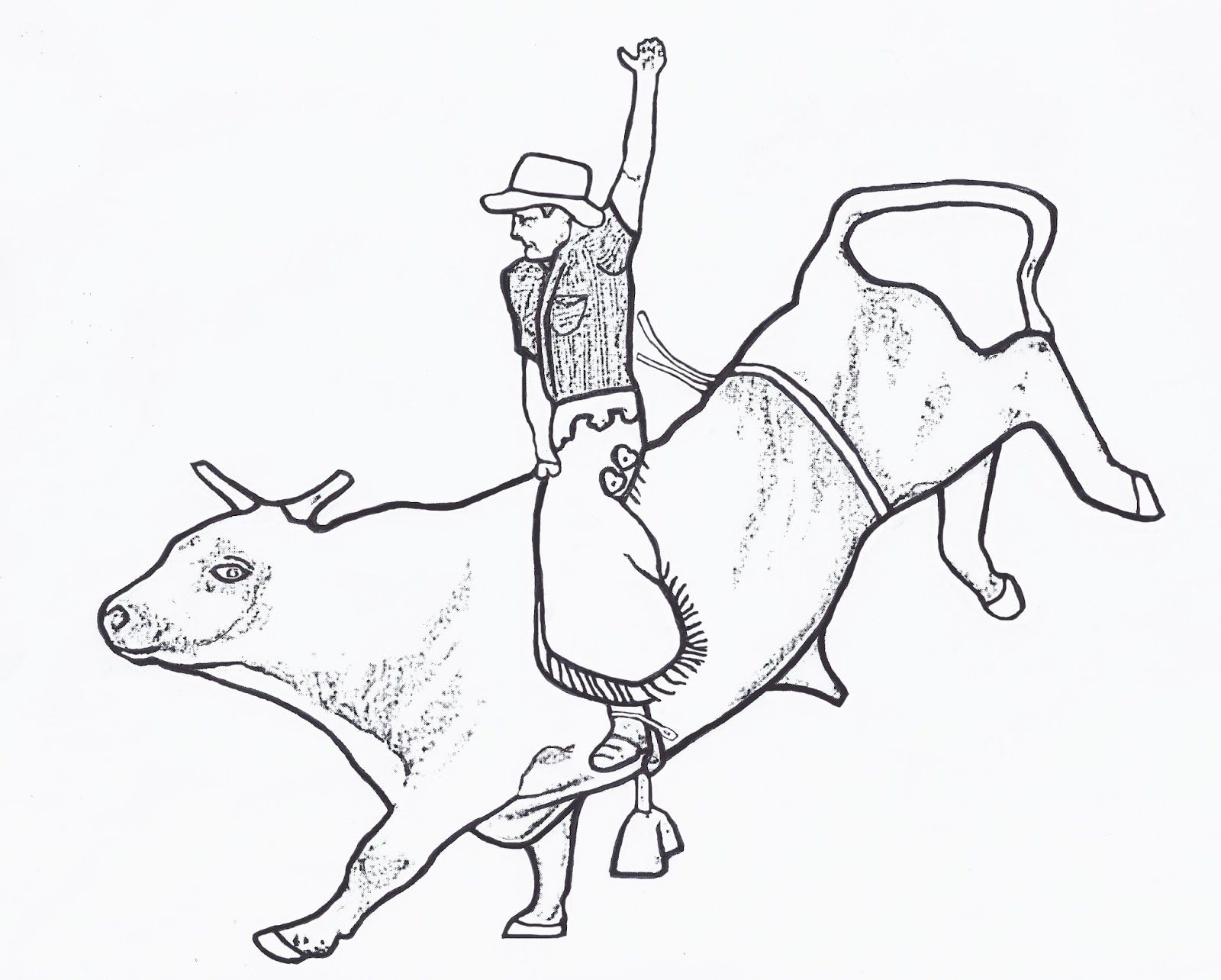 Co co coloring pages of a cowgirl - Bull Riding Coloring Pages 02