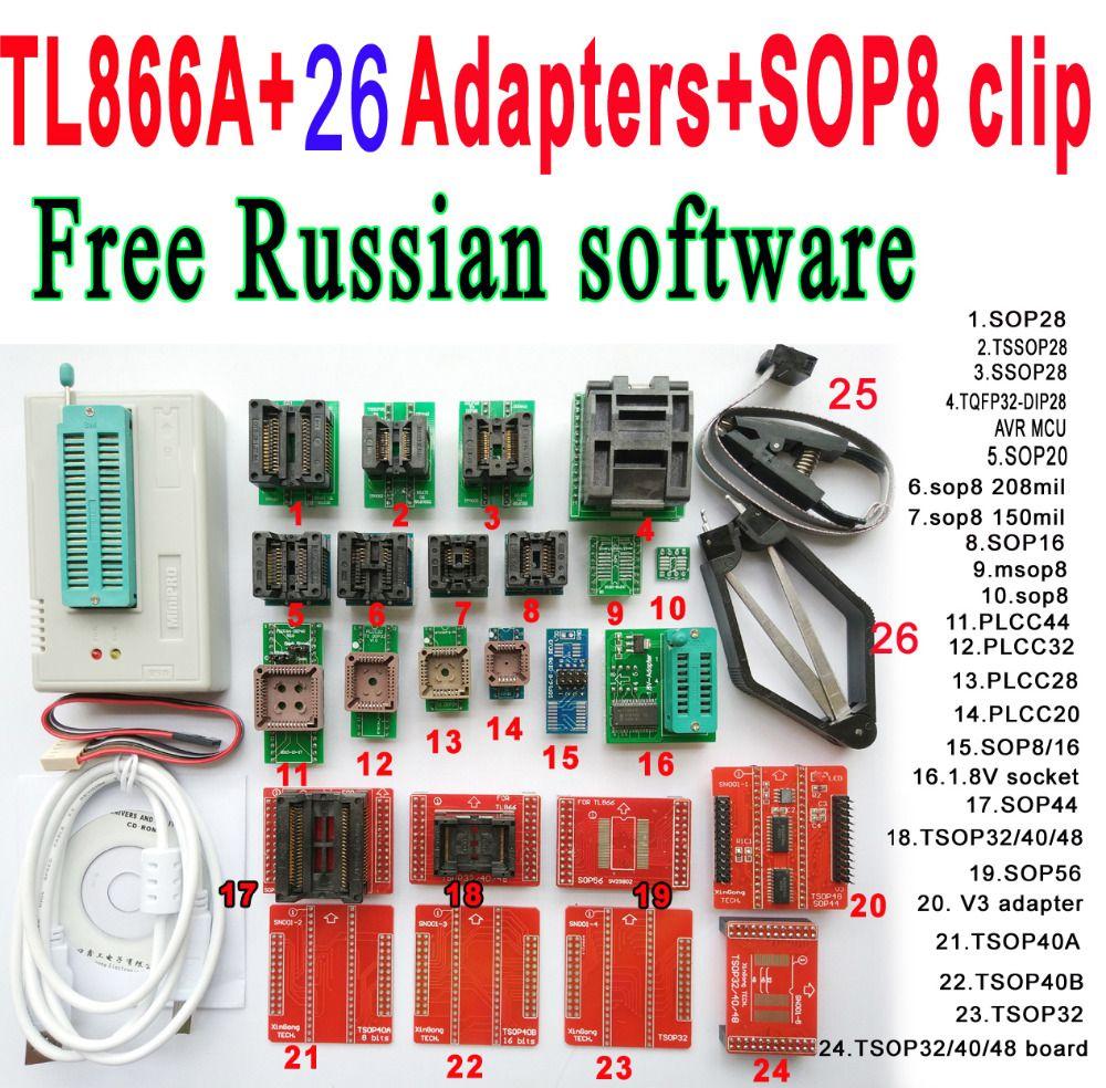 buy free russian software original minipro tl866a programmer 26