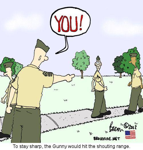 Greenside Cartoons Shouting Range Military Humor Marine Memes