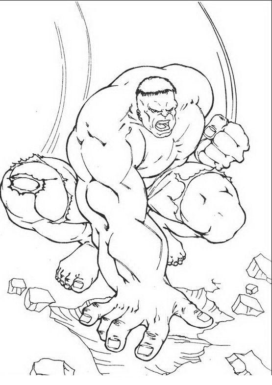 Kleurplaten Hulk 18 | kleurplaten | Pinterest