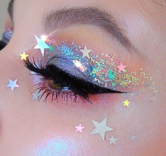 Rainbow Glitter Eyeshadow Perfect For Pride Month - Society19