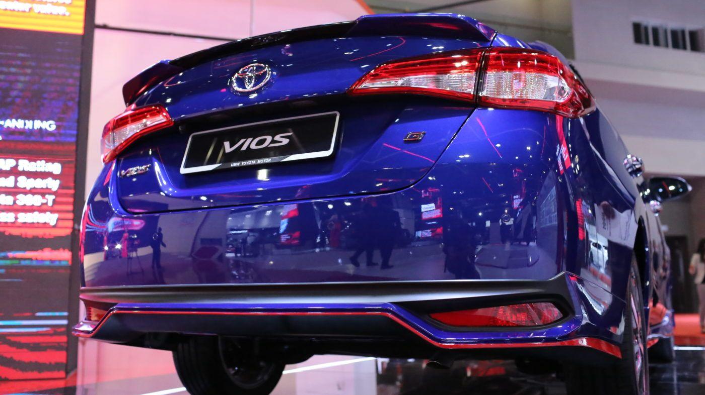 All New Toyota Vios 2019 Rear View Toyota Vios Toyota Sports Car