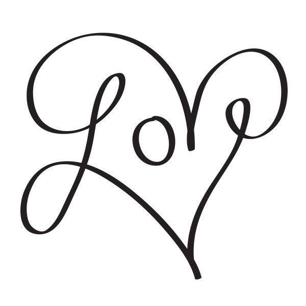 Tattoo Cursive Black Rip Birds Quote For Every: Bildergebnis Für Heart Love
