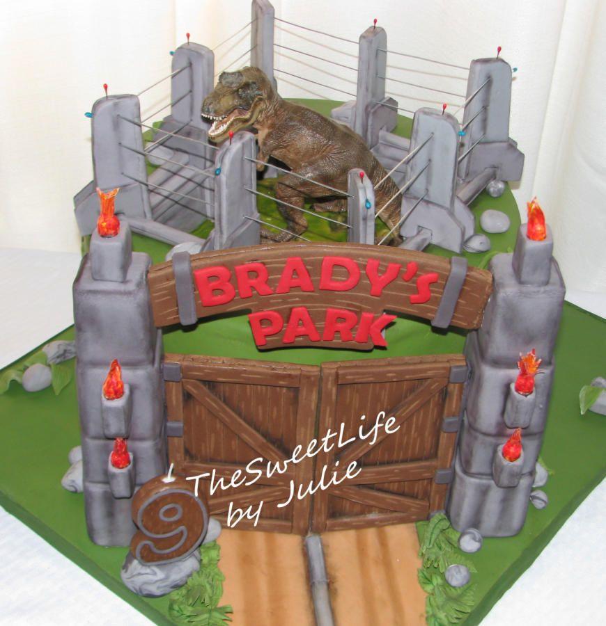 Jurassic park builder cake for all your cake decorating supplies please visit - Jurassic park builder decorations ...