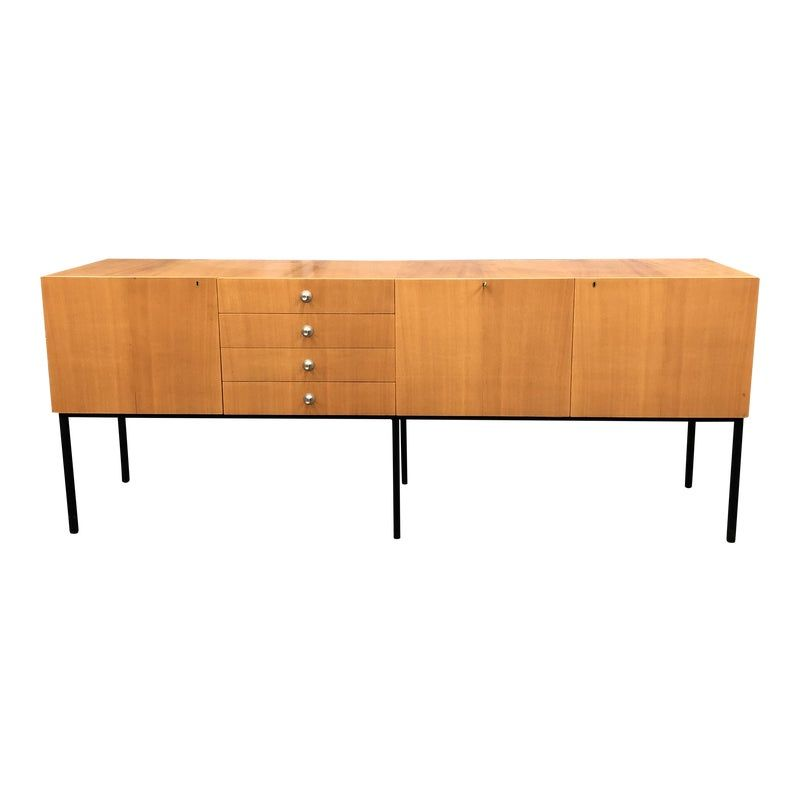 1950 S French Sycamore Modernist Credenza By Alain Richard For Meuble Storage Credenza Credenza