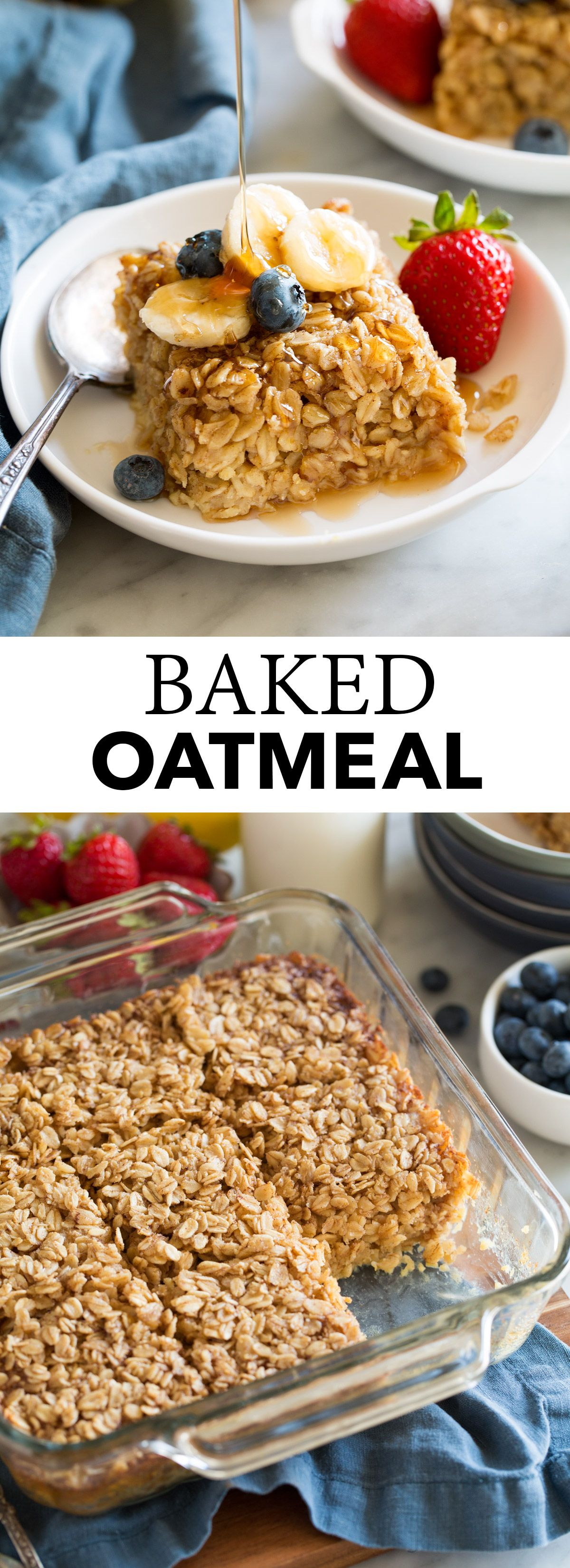 Photo of Baked Oatmeal Recipe – Cooking Classy