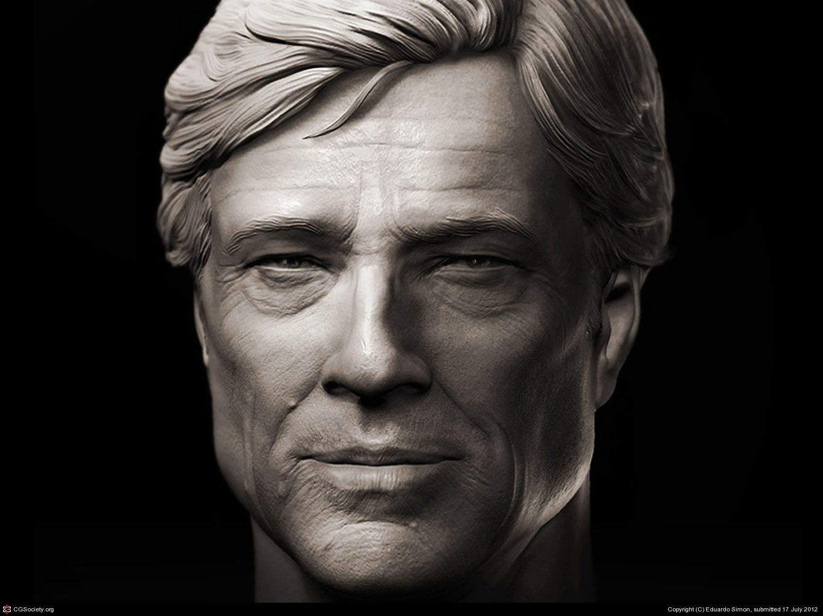 Zbrush model made for practicing human skin wrinkles,pores