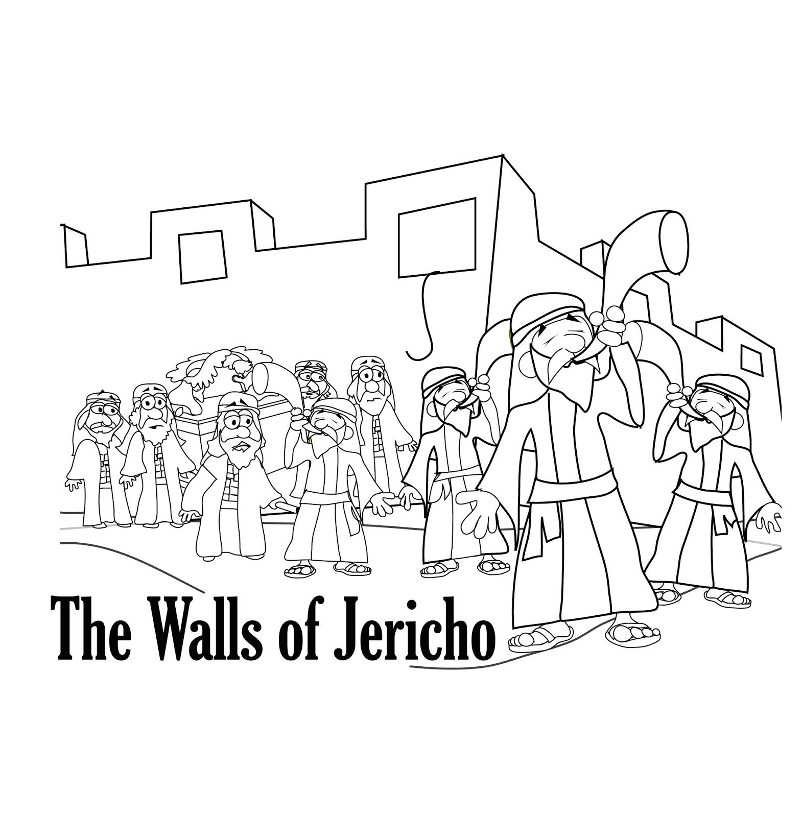 Joshua And Jericho Coloring Pages Free Bible Coloring Pages Sunday School Coloring Pages Bible Coloring