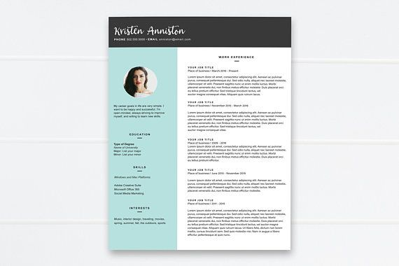 Resume, Modern Resume, Simple Resume, Resume with Picture, Bloom Ink