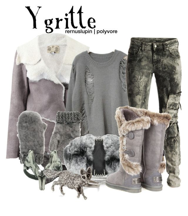"""Ygritte"" by rernuslupin ❤ liked on Polyvore featuring Nigel Preston & Knight, Diesel Black Gold, ASOS, Maison Du Posh, Emilie Morris and Australia Luxe Collective"
