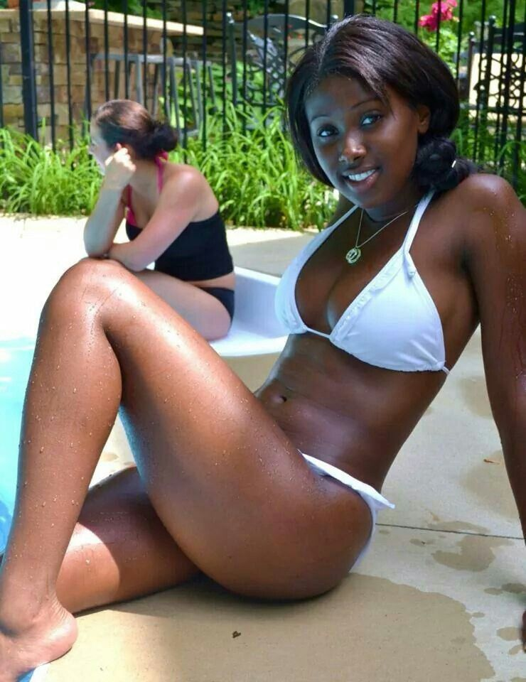 bikini women Beautiful black