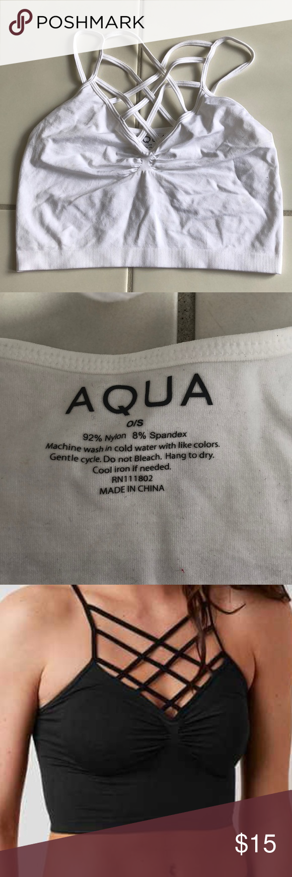 72a2afd20b6 Aqua Caged Bralette Never worn! Stretchy seamless fabric! Aqua Intimates   Sleepwear  Bras