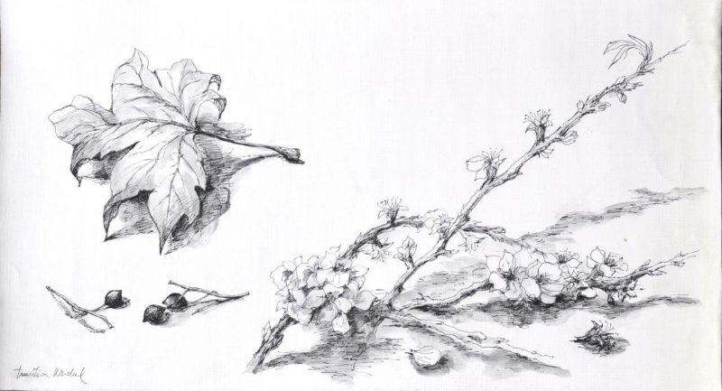 São Mamede - Art Gallery  Emilia Nadal Calendário Primavera-Verão -154)12 2014 x Canvas 28 cm x 50 cm  #EmiliaNadal #Painting at #SãoMamede #Art #Gallery #artwork