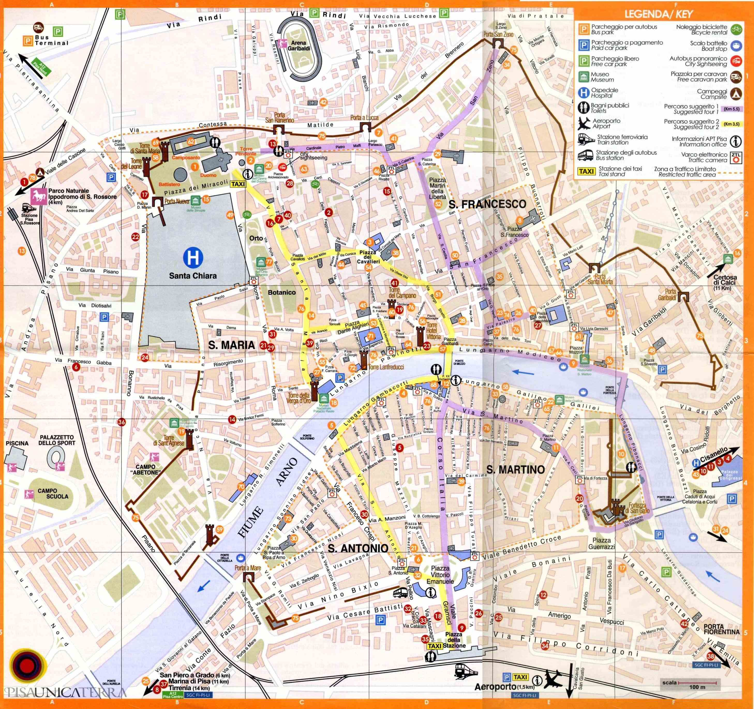 free download highresolution detailed large rimini italy map pisa s